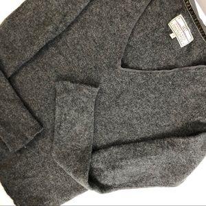 Loft cashemire grey sweater long sleeves V-neck